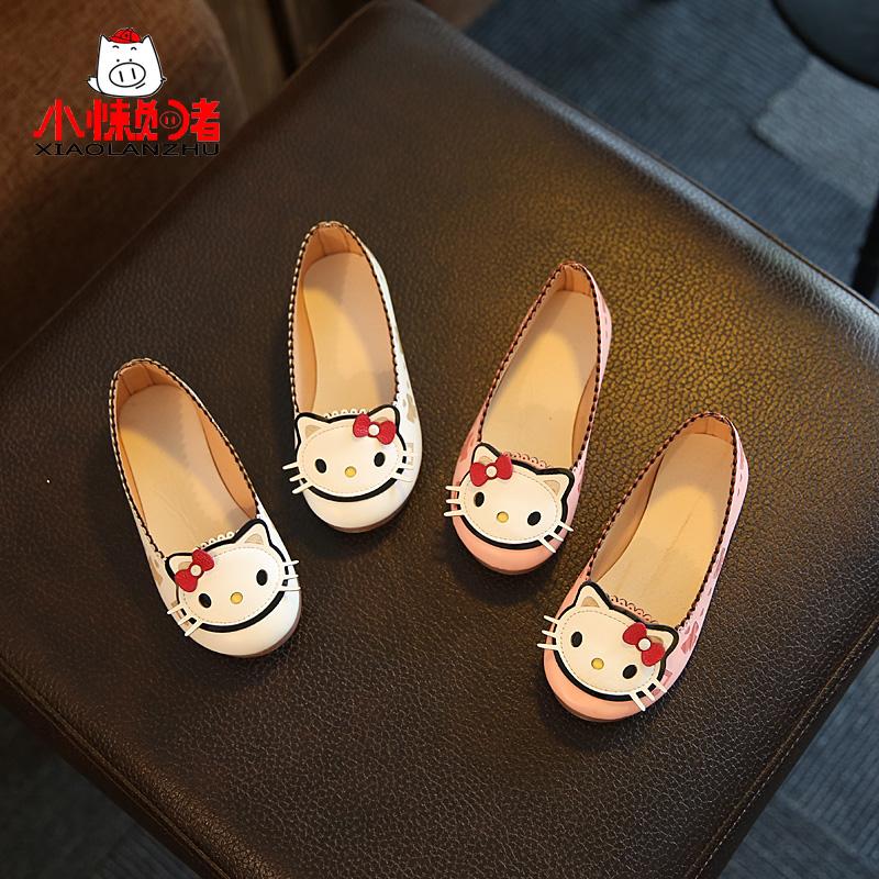 小懒猪  可爱猫咪公主皮鞋 24.9元包邮