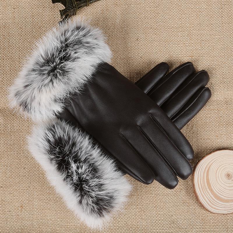 贵族龙 女士 保暖触屏皮手套 19.9元包邮