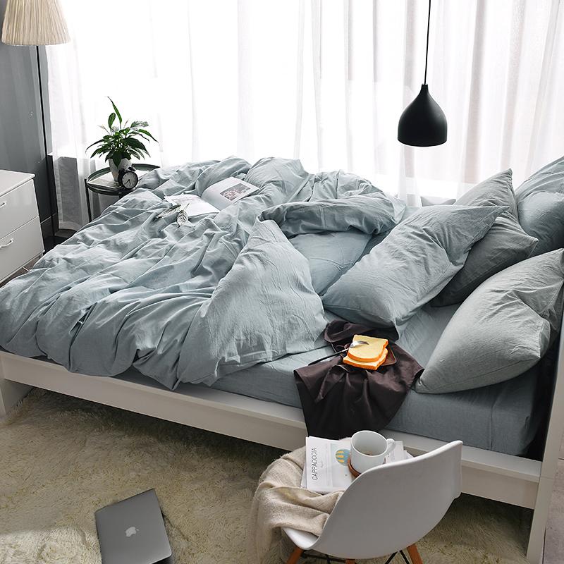 戴莱尔 床上水洗棉 四件套 1.2m-2.0m 88元包邮(多色可选)