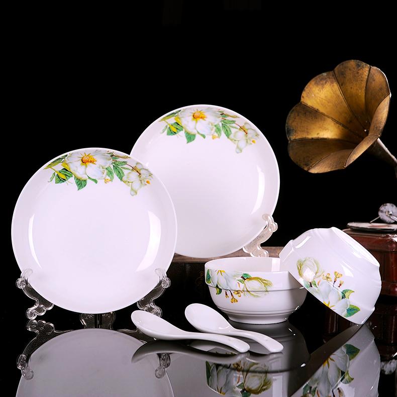 家用骨瓷碗碟 6件套装 12.9元包邮