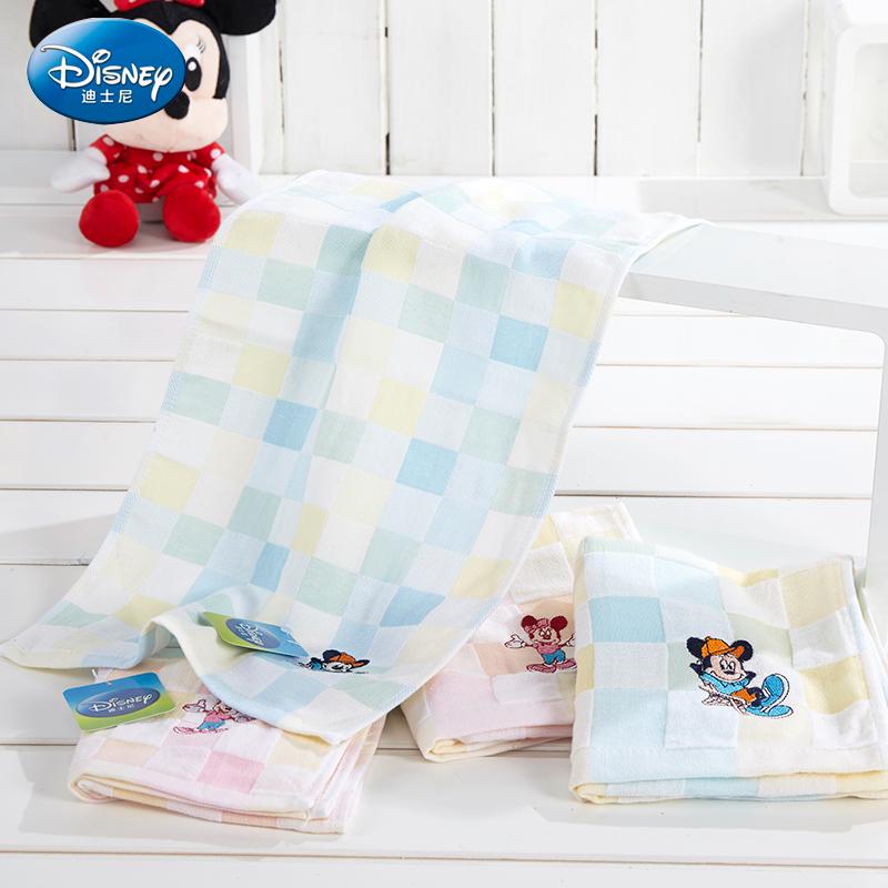 迪士尼 全棉纱布 儿童毛巾 6.9元包邮