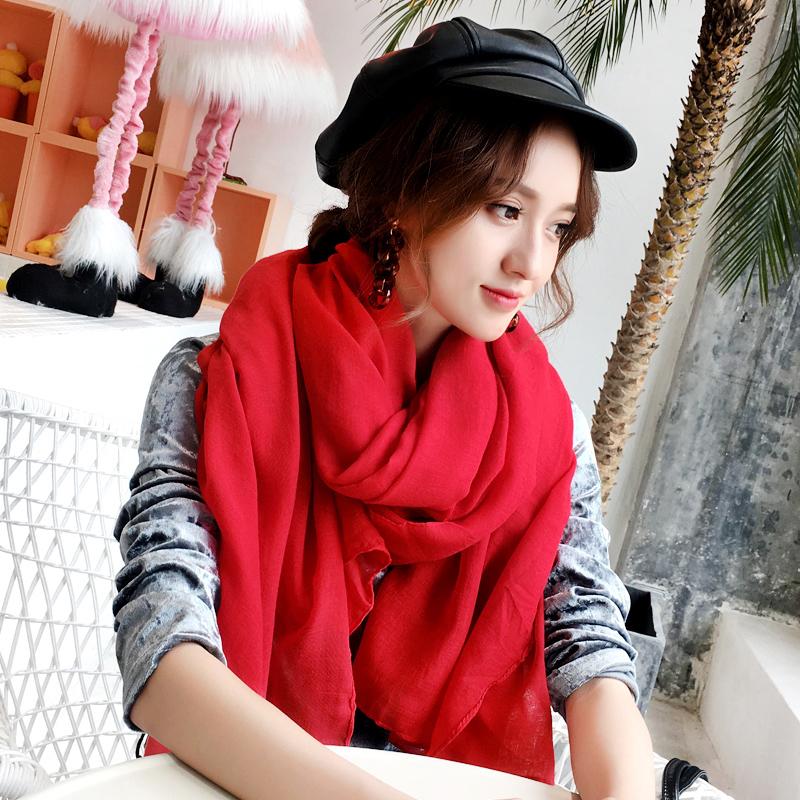 【艾凝雪】纯色大尺寸披肩围巾(超大180cm*150cm)
