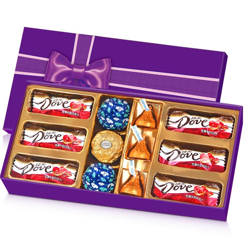 费列罗+德芙巧克力礼盒装(第一款) 券后12.9元包邮