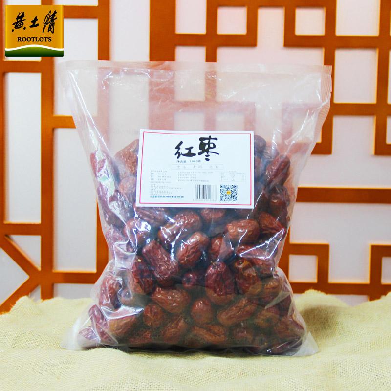 黄土陕北延安红枣1000g+200g黄小米,券后12.9元包邮