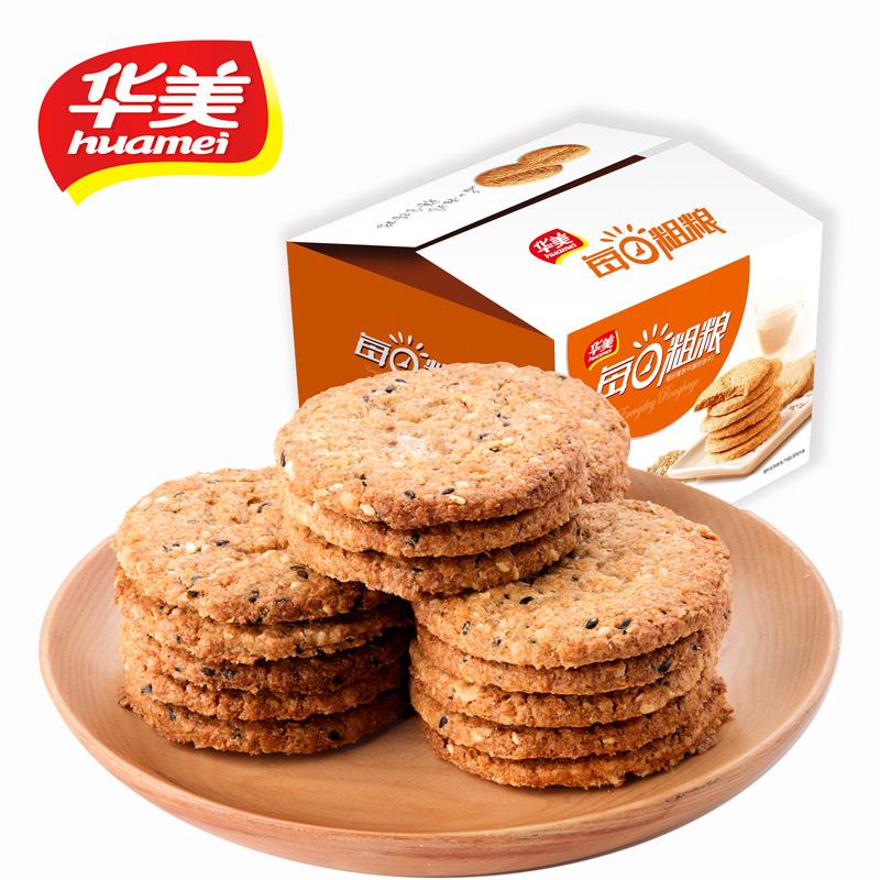 华美 粗粮饼干 1050g 19.9元包邮
