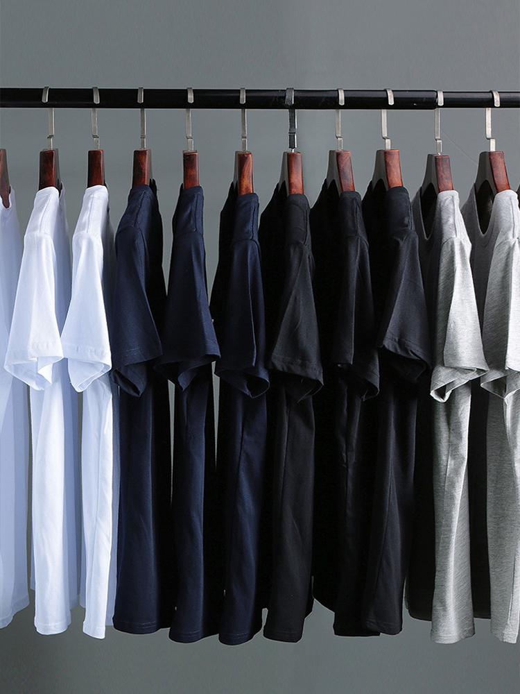100%纯棉男士短袖T恤 券后9.9元包邮