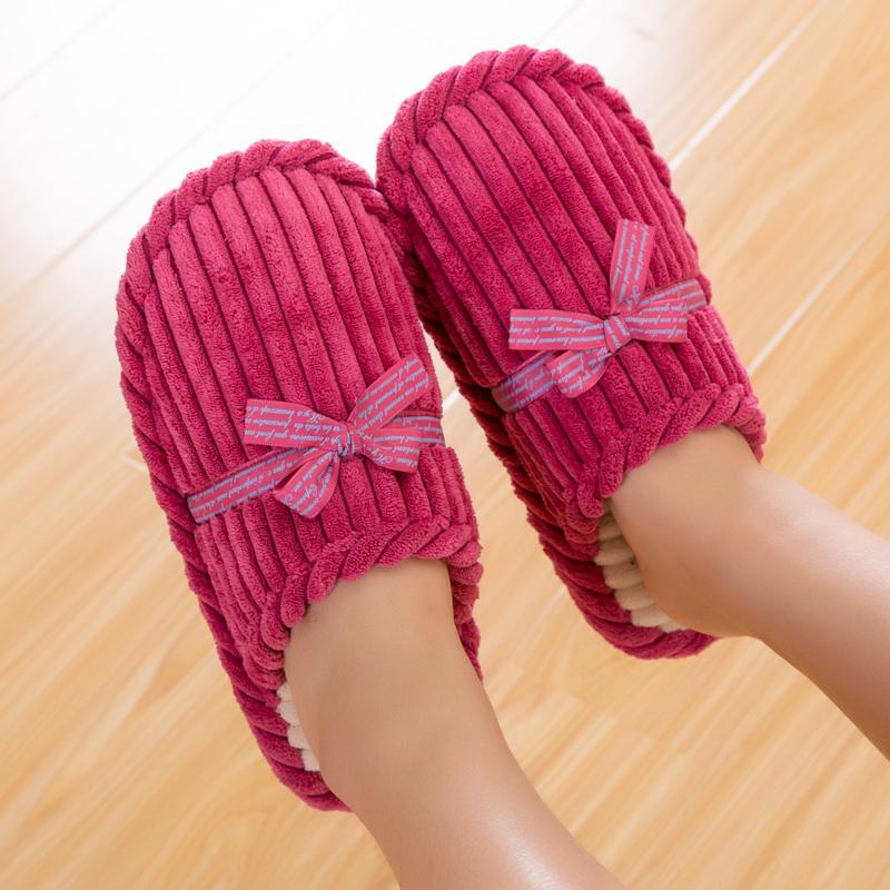 男女款居家保暖棉拖鞋,券后9.5元包邮