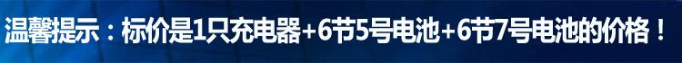 力特朗12节充电电池套装24.9 充电器+6节5号+6节7号
