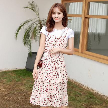 诗勒 女士 韩版碎花吊带裙 39.9元包邮