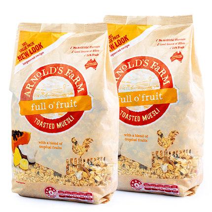 Arnold's farm/阿诺农场 水果麦片 1kg*2袋 68元包邮