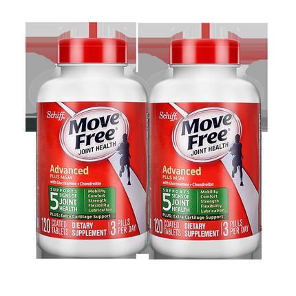 Move Free/益节 美国进口氨基葡萄糖 120粒*2瓶 249元包邮