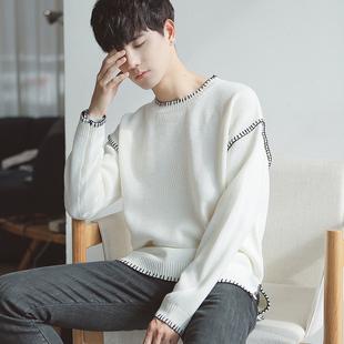 男势毛衣男冬季韩版圆领长袖针织衫