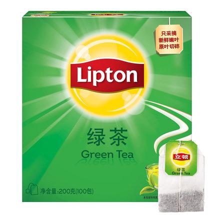 立顿 绿茶 泡茶叶茶包 100包 29.9元包邮