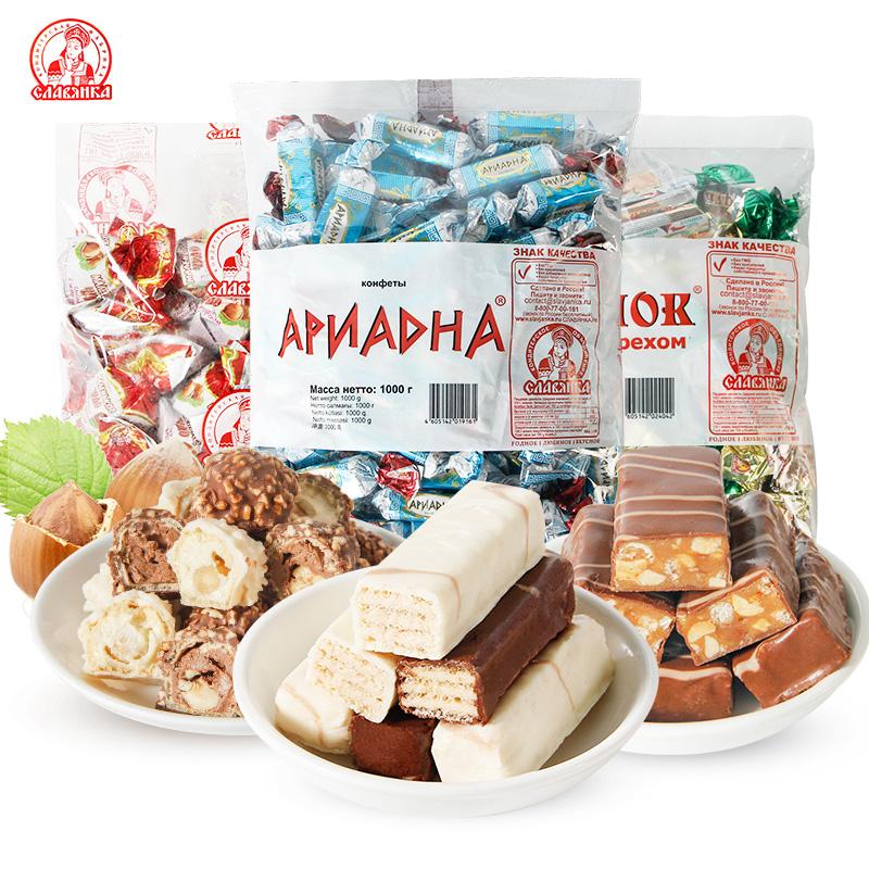 俄罗斯进口斯拉夫酸奶威化糖500g,券后14.9元包邮
