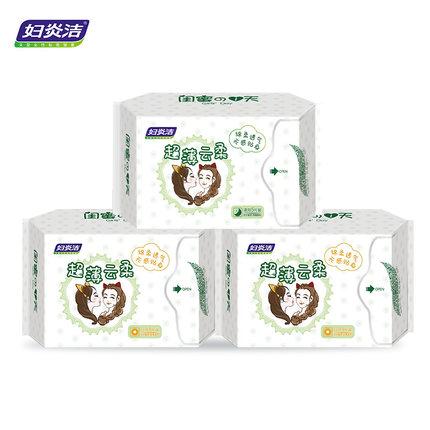 妇炎洁 棉柔卫生巾组合装 15片*4件 24.9元包邮 (拍四件)