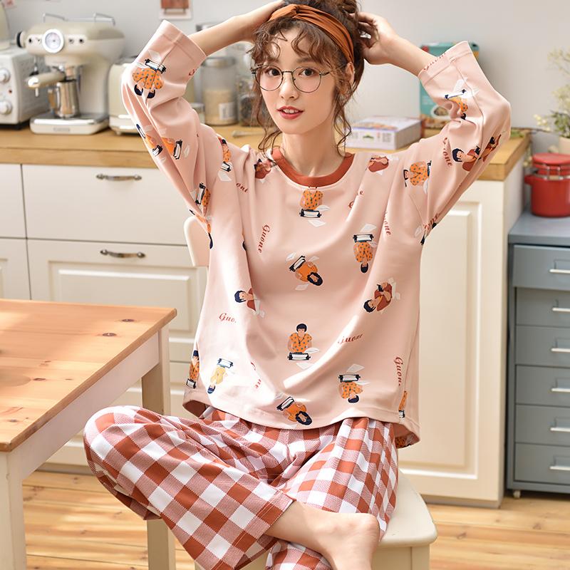 Goopo/古珀 纯棉韩版甜美睡衣套装 29.9元包邮