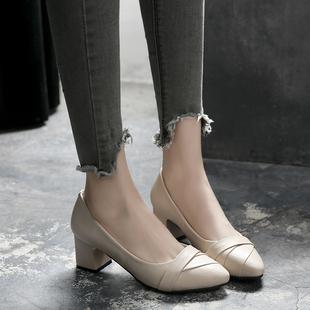 时尚女鞋夏高跟浅口工作鞋