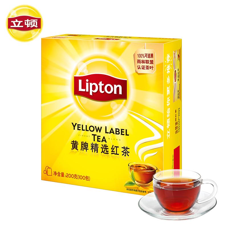 立顿 黄牌精选红茶 100包/袋 29.9元包邮