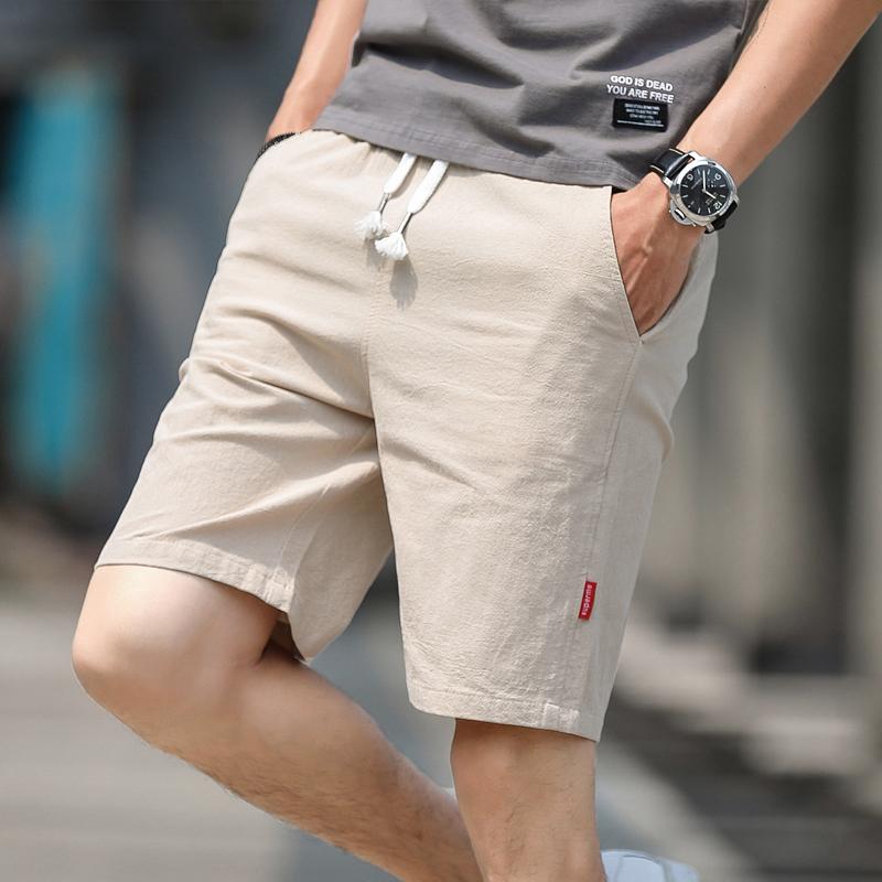 100%纯棉男士运动五分短裤 券后9.9元包邮