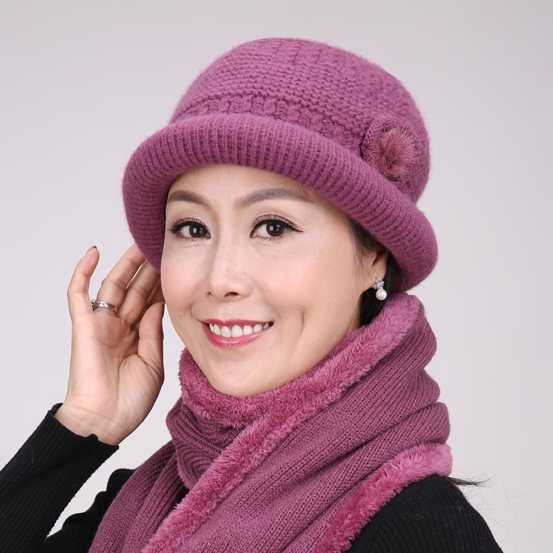 冰古 中年女款加绒保暖帽 12.8元包邮
