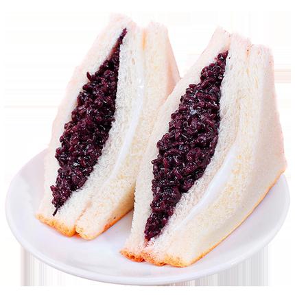 圣地莱 紫米面包 500g  7.9元包邮