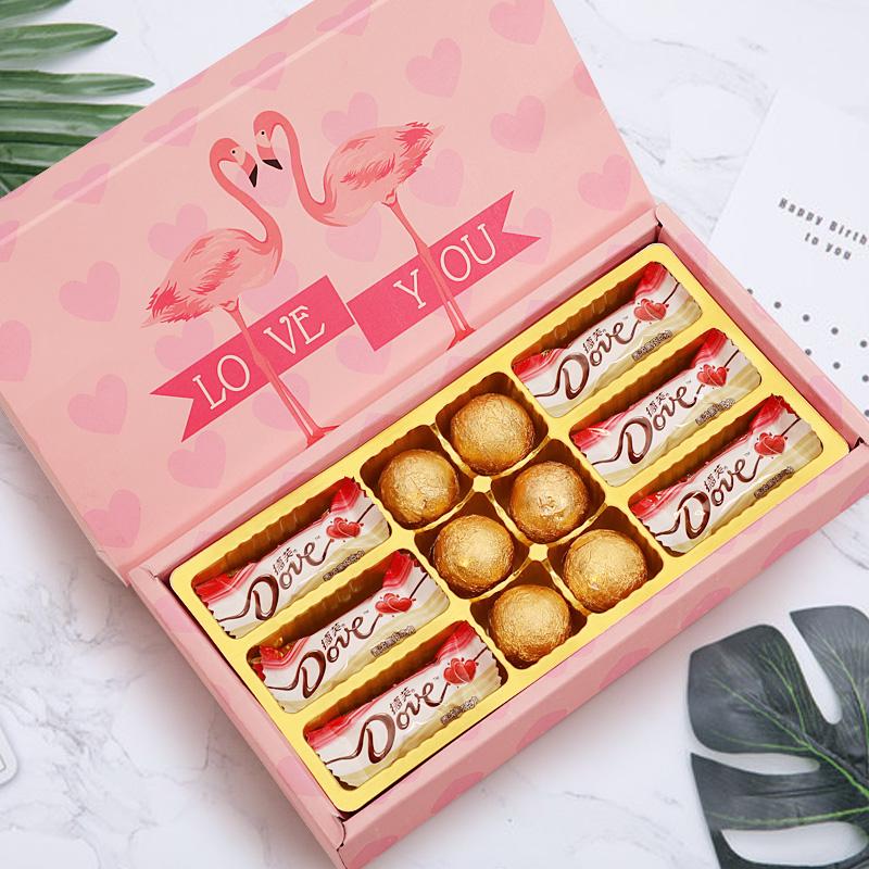 【德芙】浪漫礼盒装巧克力12颗 券后7.8元包邮