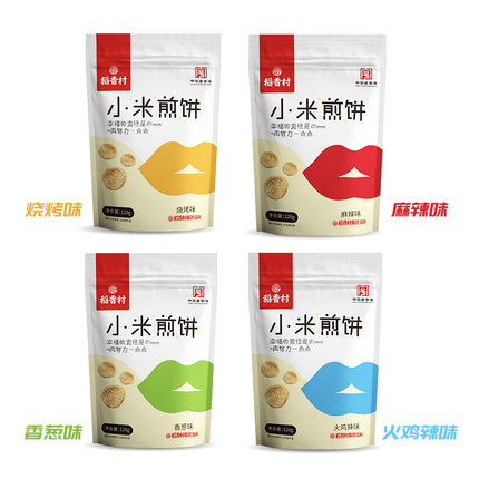 稻香村 小米煎饼锅巴 120g*4袋 11.9元包邮