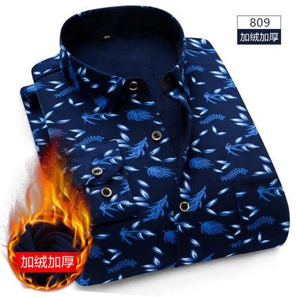 意宾 男士 加绒加厚 保暖衬衫 19.9元包邮