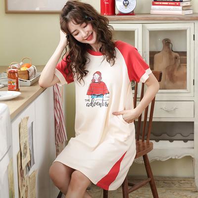 夏季短袖可愛純棉睡裙 24.8元包郵