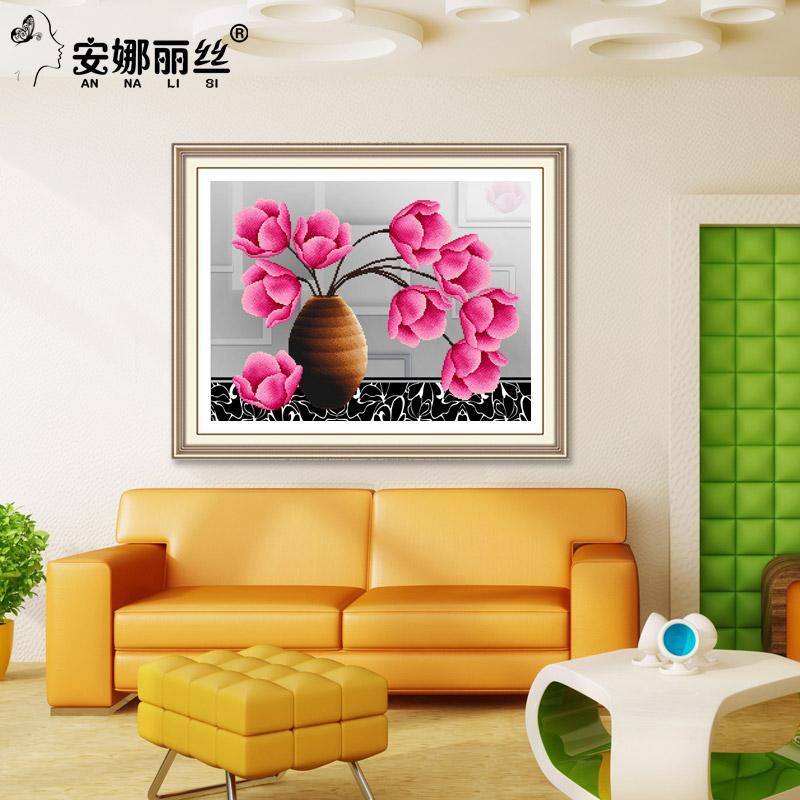 安娜丽丝 现代花卉 5d钻石画 40*32cm 15元包邮