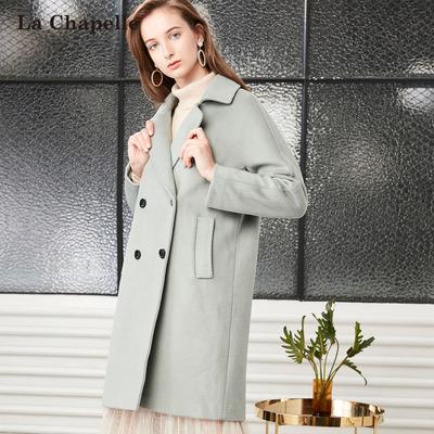 拉夏贝尔 韩版羊毛呢大衣 299元包邮
