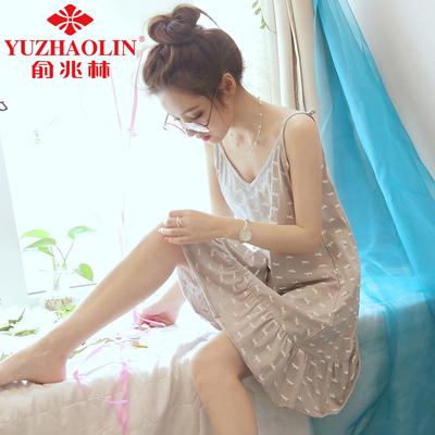 俞兆林 女士 家居服 吊带睡衣 24.9元包邮