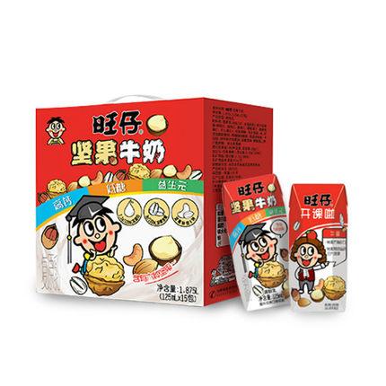 旺旺 坚果牛奶礼盒 125ml*15盒 35元包邮