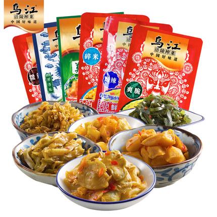 乌江 涪陵榨菜 6口味 18袋 1350g 24.9元包邮(第二件半价)