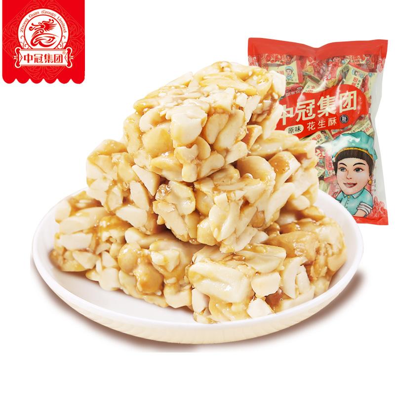 中冠集团 休闲零食花生酥 500g*2袋 21.9元包邮(拍两件)