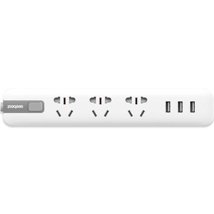 视贝 S033U 多功能USB插排 3插位+3USB/5V 2.4A 1.5米线   29元包邮