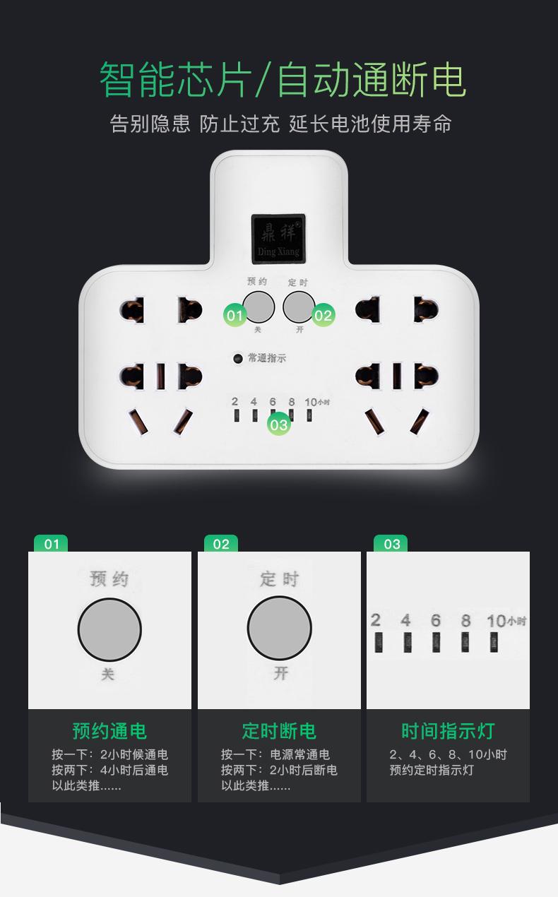 多功能排插定时插座13.8 保护您的充电设备