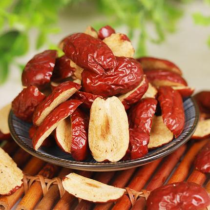 新疆若羌红枣干去核枣条红枣片 红枣果干果肉500克切片无核枣条