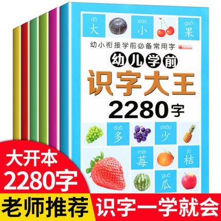 幼儿学前识字大王2280字 (全6册)15元包邮