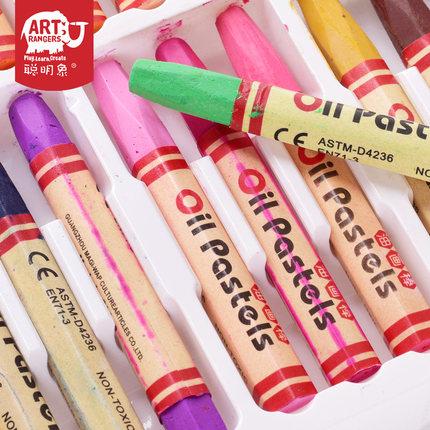 聪明象 儿童 美术真彩油画棒 24色 6.9元包邮(买1送1)