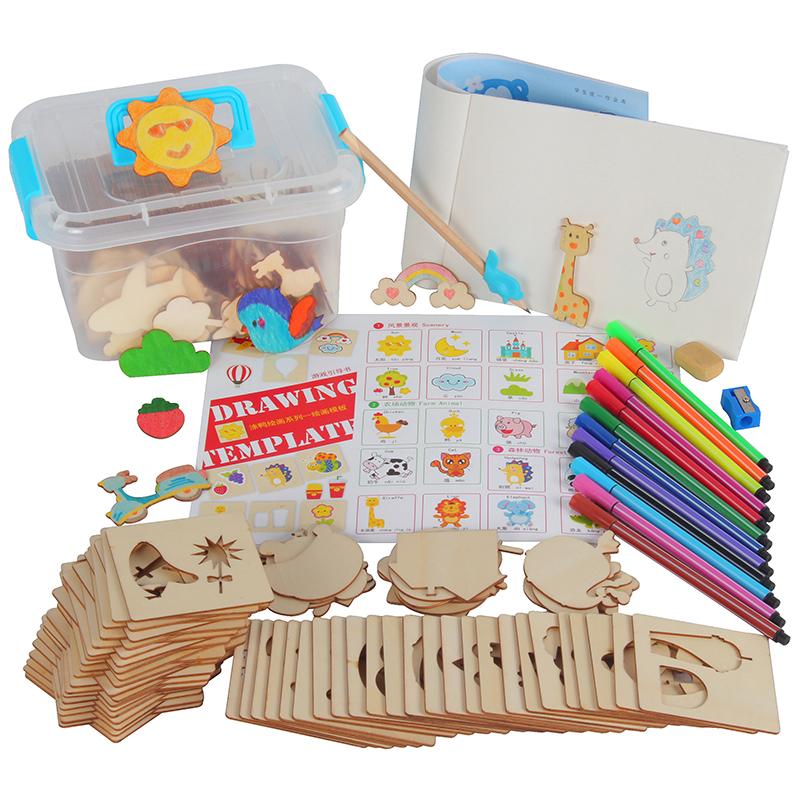 幼得乐 儿童 木制拼图画板套装 19.8元包邮