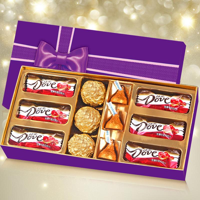 德芙巧克力礼盒装 A款-金色浪漫,券后14.9元包邮