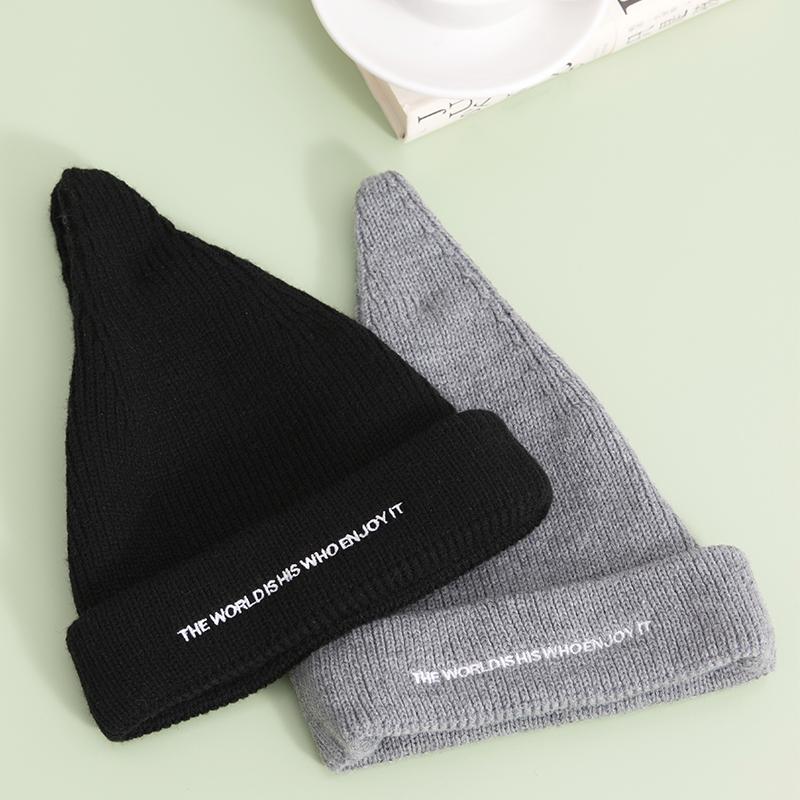 名创优品 女士 简约刺绣 造型针织帽 19.9元包邮
