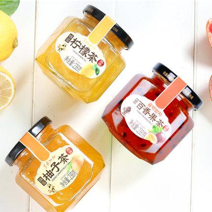 花圣 蜂蜜柚子柠檬百香果蜜茶 238g*3瓶 18.9元包邮