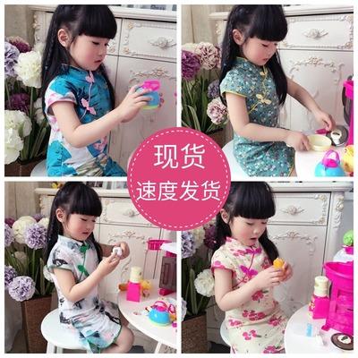 中国风 女童 旗袍 连衣裙 19.9元包邮