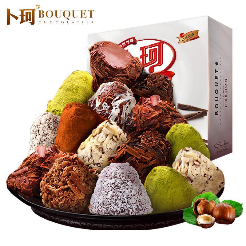 卜珂 松露黑巧克力 礼盒装408g 13.8元包邮