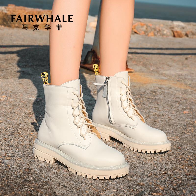 Mark Fairwhale 马克华菲 复古厚底女式马丁靴 天猫优惠券折后¥159包邮(¥359-200)单里、加绒保暖2色可选