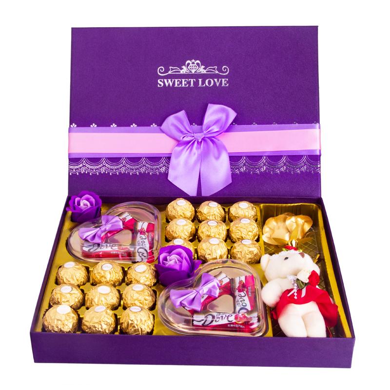 德芙巧克力18颗礼盒装,券后19元包邮