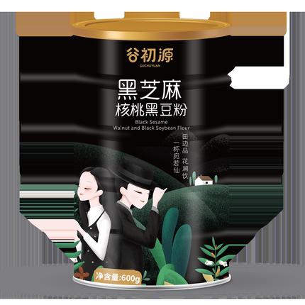 谷初源 黑芝麻核桃黑豆粉 600g 9.9元包邮