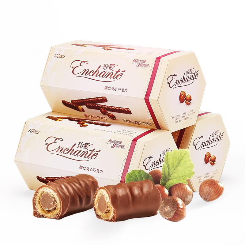 金帝 榛仁夹心巧克力 39支 共390g 29.8元包邮